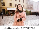 pretty woman in warm clothes | Shutterstock . vector #529608283