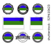 vector set of made in the komi... | Shutterstock .eps vector #529610623