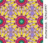 mandalas background. red  pink  ... | Shutterstock .eps vector #529614997