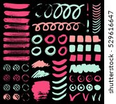 vector ink and paint textures... | Shutterstock .eps vector #529616647