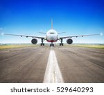 Airliner Ready For Take Off
