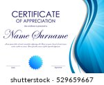 certificate of appreciation... | Shutterstock .eps vector #529659667