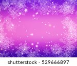 winter magical pink and purple... | Shutterstock . vector #529666897