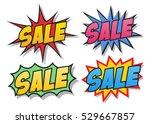 sale comics bubbles | Shutterstock .eps vector #529667857