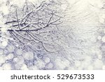 snow on a tree branches. winter ... | Shutterstock . vector #529673533