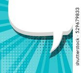 blank comic balloon blue... | Shutterstock .eps vector #529679833