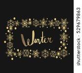 winter   hand drawn lettering.... | Shutterstock .eps vector #529679863