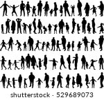 large collection of silhouettes ... | Shutterstock .eps vector #529689073