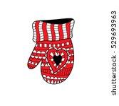 insulated winter accessories... | Shutterstock .eps vector #529693963