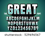 vector of big retro 3d alphabet | Shutterstock .eps vector #529696567