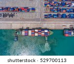 container container ship in... | Shutterstock . vector #529700113