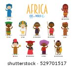 kids and nationalities of the... | Shutterstock .eps vector #529701517