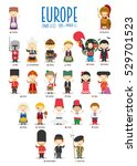 kids and nationalities of the... | Shutterstock .eps vector #529701523