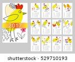 vector calendar for 2017. set...   Shutterstock .eps vector #529710193