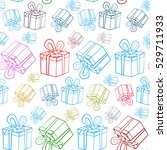 seamless gift boxes pattern.... | Shutterstock .eps vector #529711933