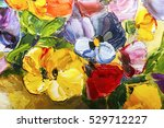 texture oil painting flowers ... | Shutterstock . vector #529712227