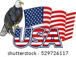 american eagle and flag | Shutterstock .eps vector #529726117