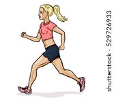 vector single cartoon female... | Shutterstock .eps vector #529726933