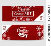 christmas sale banner... | Shutterstock .eps vector #529728157