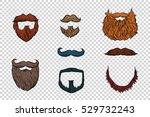 stylish beard and moustache set ... | Shutterstock .eps vector #529732243