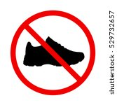 stop sign. no shoes | Shutterstock .eps vector #529732657
