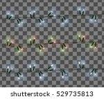 vector set of christmas lights... | Shutterstock .eps vector #529735813
