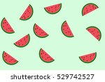 illustration of watermelon... | Shutterstock . vector #529742527