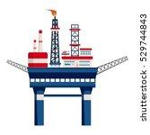 oil platform at sea icon....