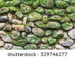 vintage stone wall covered with ... | Shutterstock . vector #529746277