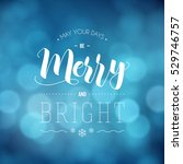 may your days be merry and... | Shutterstock .eps vector #529746757