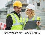 construction worker working at... | Shutterstock . vector #529747837