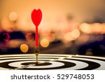 target dart with arrow over... | Shutterstock . vector #529748053