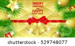 christmas background with red... | Shutterstock .eps vector #529748077