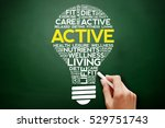 active bulb word cloud collage  ... | Shutterstock . vector #529751743