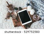 winter homely scene ... | Shutterstock . vector #529752583