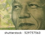 Small photo of Image of Mandela Nelson on the banknote of 10 rands of the Republic of South Africa