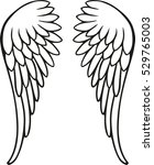 perfect angel wings | Shutterstock .eps vector #529765003