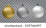 glass christmas  new year toy... | Shutterstock .eps vector #529766497