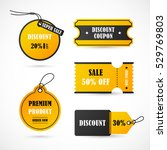 vector stickers  price tag ... | Shutterstock .eps vector #529769803