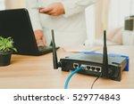 closeup of a wireless router... | Shutterstock . vector #529774843