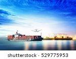 logistics and transportation of ... | Shutterstock . vector #529775953