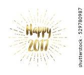 gold glitter foil new year... | Shutterstock . vector #529780987