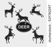 deer set. vector | Shutterstock .eps vector #529782097