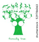 family tree chart  genealogical ... | Shutterstock .eps vector #529786063