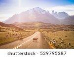 sheeps herd grazing at... | Shutterstock . vector #529795387