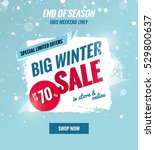 big winter sale dynamic banner... | Shutterstock .eps vector #529800637