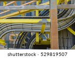 high voltage electrical cables... | Shutterstock . vector #529819507