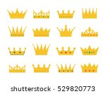 set of gold crown icons.... | Shutterstock .eps vector #529820773