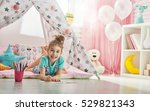 happy child plays. little child ... | Shutterstock . vector #529821343