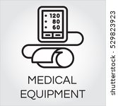 contour icon of medical... | Shutterstock .eps vector #529823923